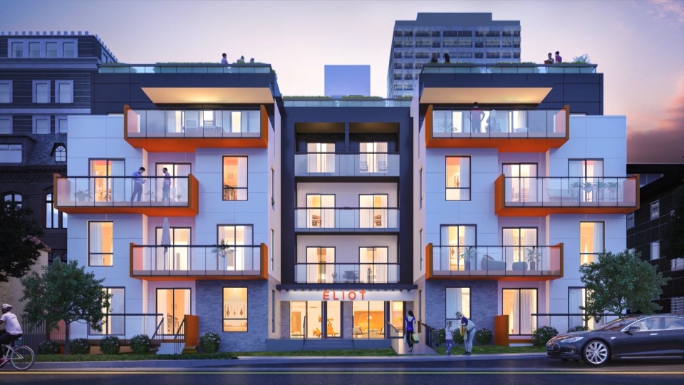 A rendering from the Eliot at Norquay project.