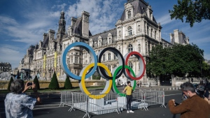 Paris aims to offer visitors of the 2024 Paris Olympics airborne taxis to tournament sites straight from the airport. (LUCAS BARIOULET / AFP)
