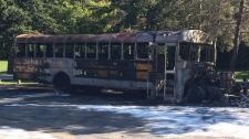 Fire destroys school bus