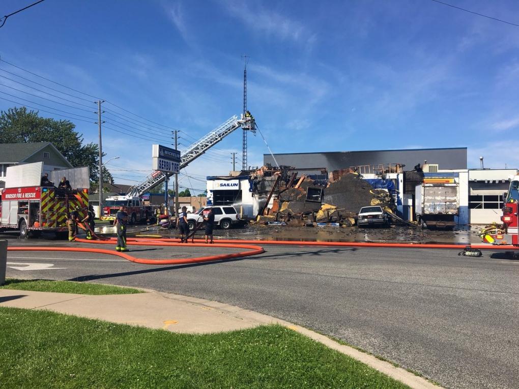 Fire destroys east Windsor business