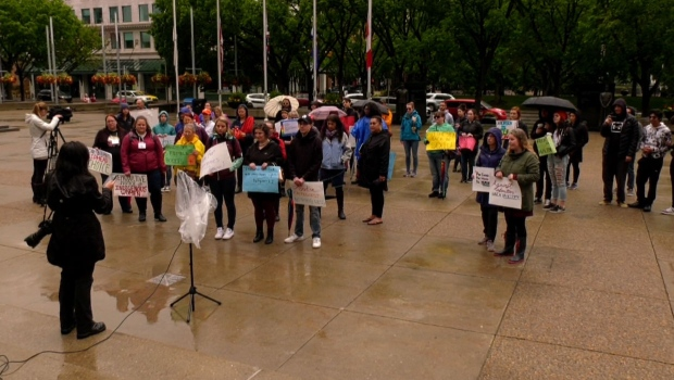 Pro-choice rally held at Calgary City Hall | CTV News