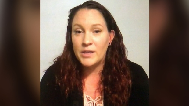 Tiffani O'Brien is seen speaking about her ordeal after waking up alone on an Air Canada plane.
