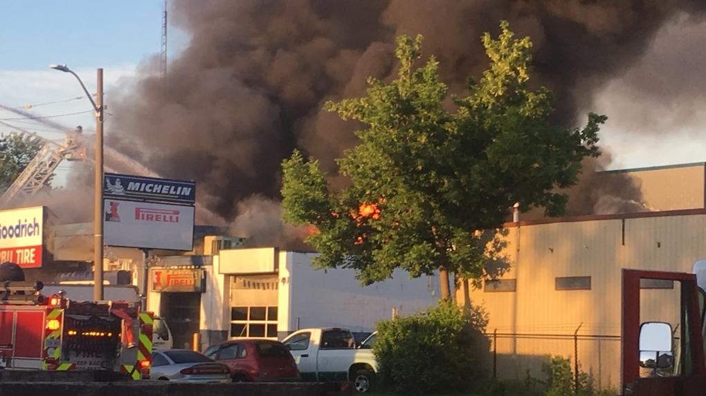 Serbu Tire fire deemed suspicious