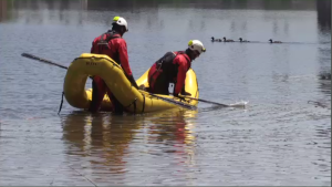 Cambridge firefighters complete water rescue training on the Grand River.
