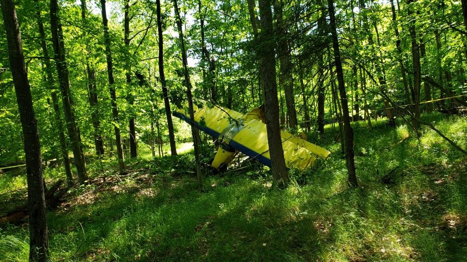 A float plane crashed on Tobins Island in the Township of Muskoka Lakes on Sunday June 23, 2019 (Courtesy: Muskoka Lakes Fire)