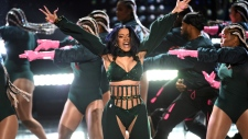 Cardi B performs at the BET Awards