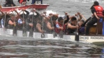 Competitors at the Vancouver Dragon Boat Festival are seen in this file image from June 2019.