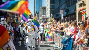 Participants take part in the 2019 Pride Parade in Toronto, Sunday, June 23, 2019. THE CANADIAN PRESS/Andrew Lahodynskyj