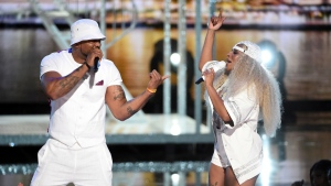 Lifetime achievement award winner Mary J. Blige performs a medley with Method Man at the BET Awards on Sunday, June 23, 2019, at the Microsoft Theater in Los Angeles. (Photo by Chris Pizzello/Invision/AP)