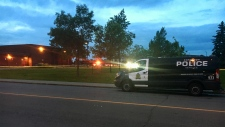 Police on scene at Kirkness School on June 24, 2019. (Evan Klippenstein/CTV Edmonton)