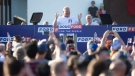 Ontario Premier Doug Ford addresses the crowd during Ford Fest in Markham, Ont., on Saturday June 22, 2019. THE CANADIAN PRESS/Chris Young