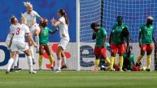 England versus Cameroon