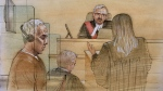 Shou Quan Chen is seen appearing in court on June 24, 2019 in this sketch. (CTV News Toronto / John Mantha)