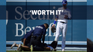 Fan arrested after hugging Dodgers' outfielder