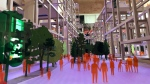 Pedestrians are shown in a model as part of Sidewalk Labs' plan for the Toronto waterfront. (Sean Leathong)