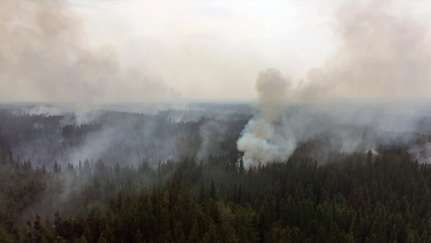 Fire activity on the Chuckegg Creek fire, taken June 23, 2019 (Source: Government of Alberta)