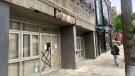 A vacant store is seen along Queen Street East in The Beach. (CTV News Toronto / Natalie Johnson)