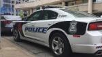 A Windsor police cruiser sits outside of headquarters in Windsor, Ont., on Monday, June 24, 2019. (Chris Campbell / CTV Windsor)