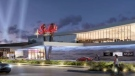 An artist's rendition shows the exterior of a new casino planned for London, Ont.