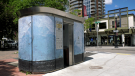 This public toilet, at the east end of Tomkins Park, is coming under fire