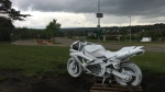 "A ""ghost"" motorcycle has been set up near Scona Road, where a man was killed in a motorcycle crash on Saturday."
