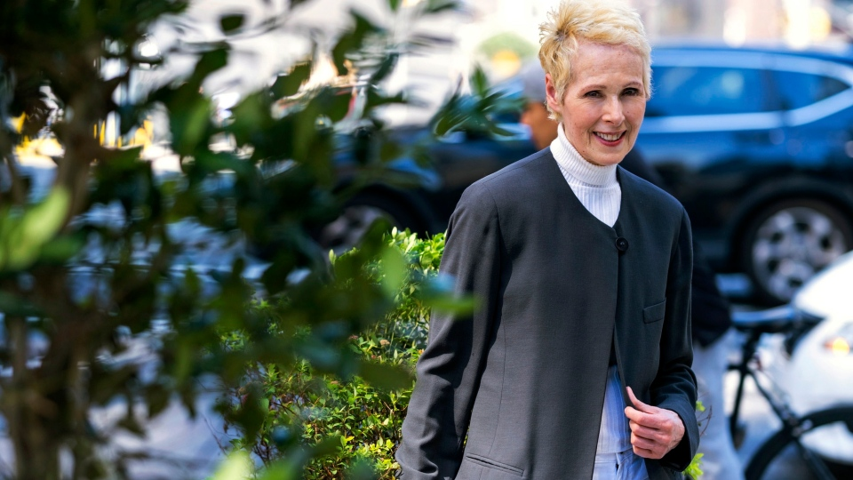E. Jean Carroll is photographed, Sunday, June 23, 2019, in New York. (AP Photo/Craig Ruttle)