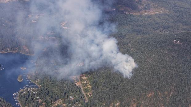 Fire burning on Sunshine Coast