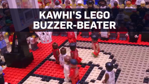Kawhi's famous buzzer-beater recreated with Lego