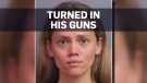 Wife arrested for giving cops her husband's guns