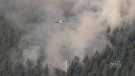 A fire broke out on the Sunshine Coast near Pender Harbour on Monday, June 24.