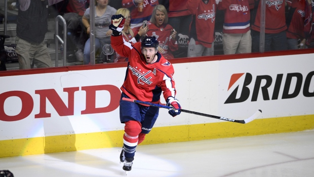 Brooks Orpik celebrates a game-winning goal