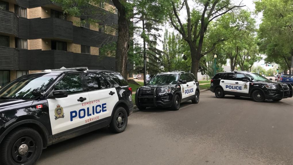 Multiple police cars at Edmonton apartment