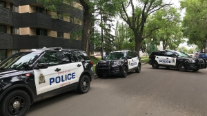 Police were called to an apartment shortly before 9 a.m. (Matt Marshall/CTV Edmonton)