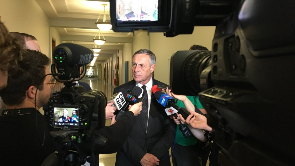 Don Morgan speaks about the carbon tax on June 25, 2019 (Gareth Dillistone / CTV Regina)