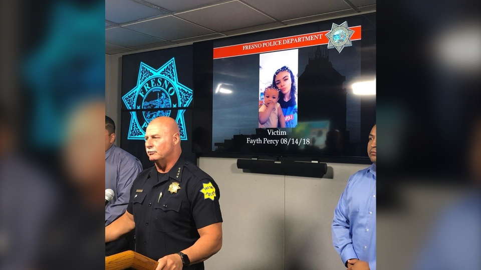 Fresno Police Chief Jerry Dyer makes an announcement about the case on June 24. (Fresno Police/Instagram)