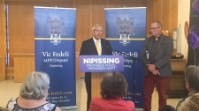 Vic Fedeli announces plans for the redevelopment of the Cassellholme long-term care facility in North Bay. (Brittany Bortolon/CTV Northern Ontario)