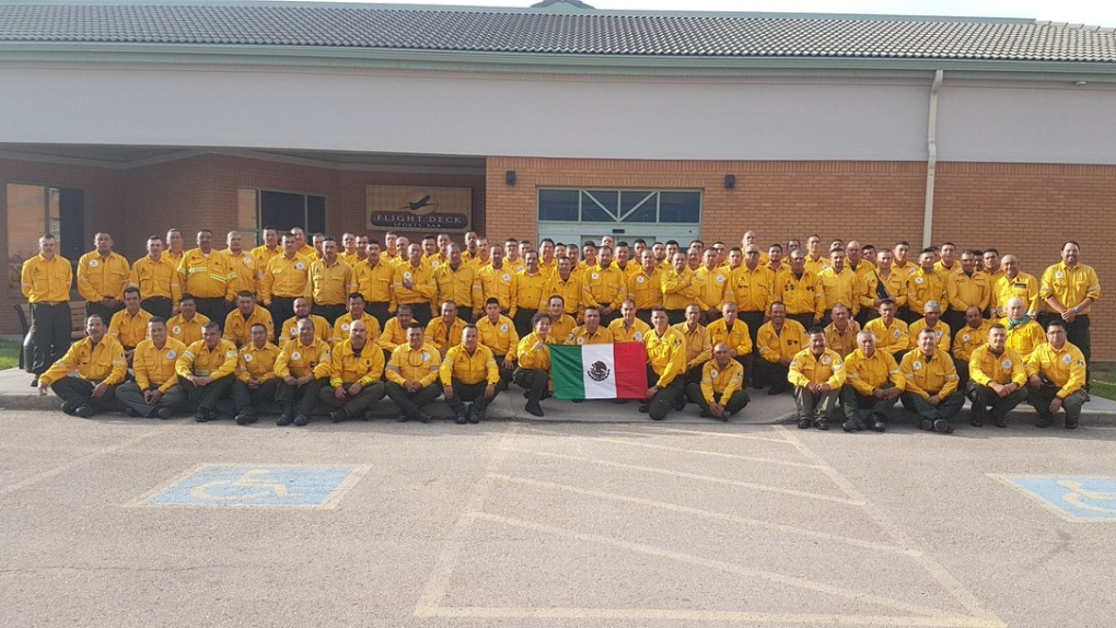 More firefighting support arrives from Mexico
