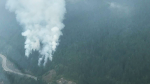 A photo posted Sunday by the BC Wildfire Service shows the Strip Creek fire from the air.
