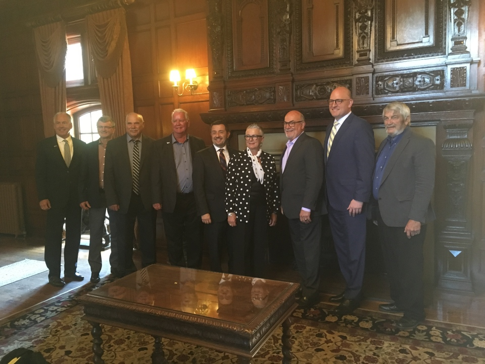 Mayors across Windsor-Essex met informally, without an agenda, for a luncheon at Willistead Manor on June 25, 2019. (Bob Bellacicco / CTV Windsor)