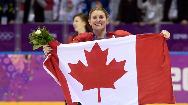 After becoming a doctor, Hayley Wickenheiser was named senior director of player development by the Toronto Maple Leafs. (File photo)