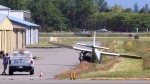 Light plane involved in accident at airport in Lan