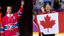 Guy Carbonneau and Hayley Wickenheiser (photos: THE CANADIAN PRESS/Graham Hughes and AP Photo/Paul Chiasson, The Canadian Press, File)