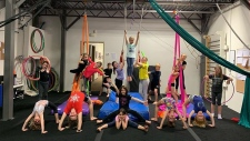 Kids participate in the Rising Circus summer camp in Langford. (TheRisingCircus.com)