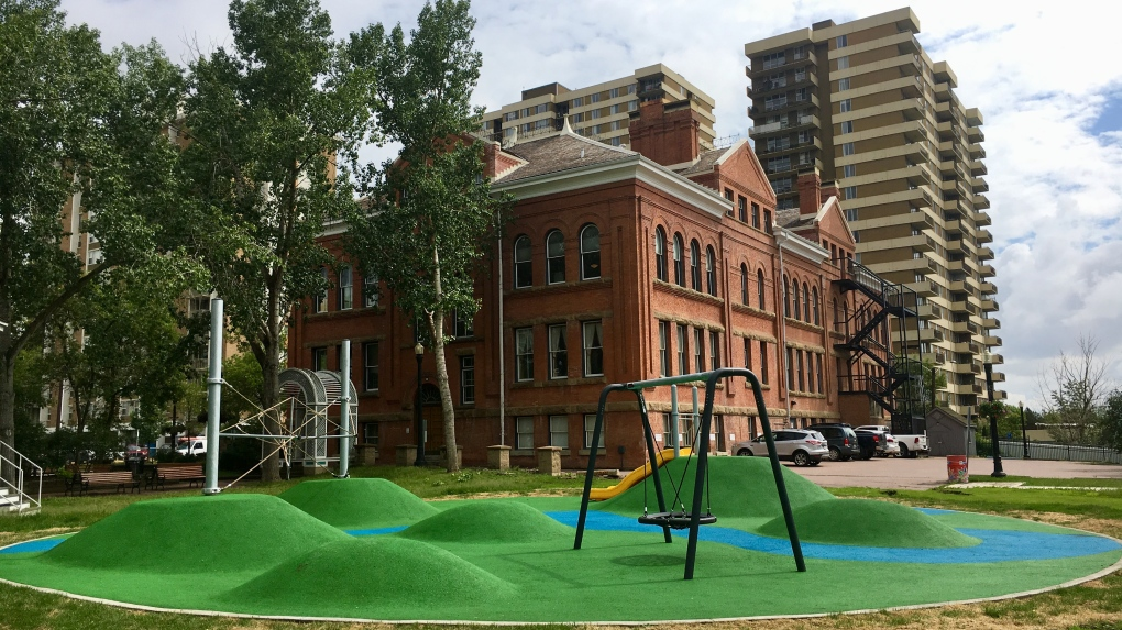New downtown playground open to public