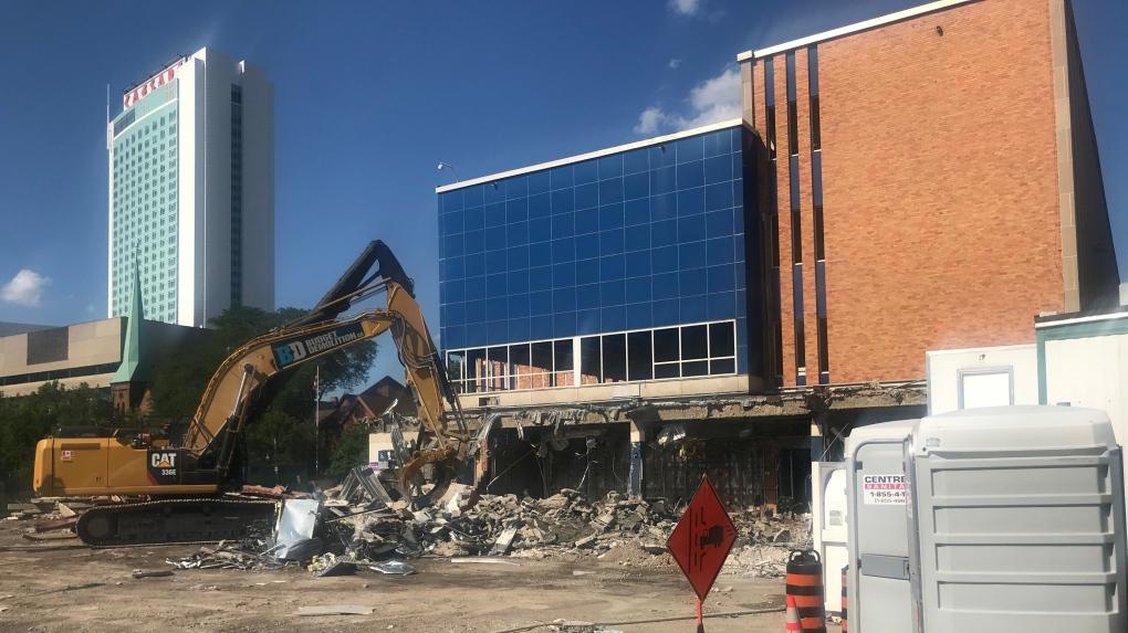 Demolition finally begins at Windsor's former city hall