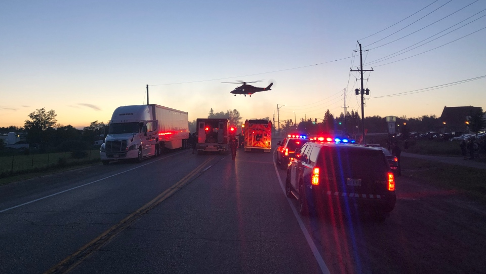 Police are investigating a fatal collision in the town of Erin. (Photo: OPP)
