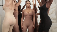 Kim Kardashian has sparked debate in Japan by naming her new line of shapewear 'Kimono,' prompting some to accuse her of disrespecting the traditional outfit. (@kimonobody/Twitter)