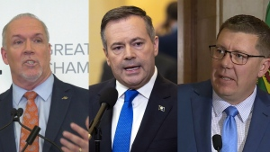 John Horgan, Jason Kenney and Scott Moe