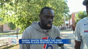 Ottawa's 1st player drafted to the NBA