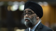 Minister of National Defence Minister Harjit Sajjan responds during Question Period in the House of Commons, in Ottawa on May 28, 2019.THE CANADIAN PRESS/Adrian Wyld